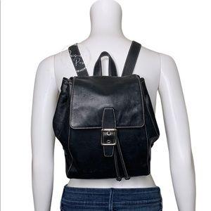 Vintage Coach Black Legacy Backpack Black Leather